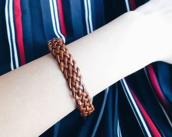 Braid Leather Bracelet; Handcraft; Special Gift; HK