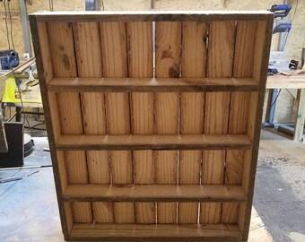 reclaimed barnwood essential oil shelf
