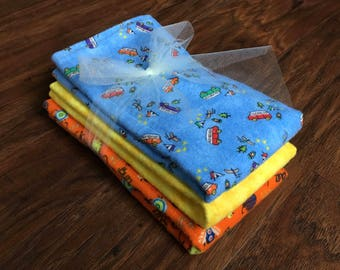 Cloth Diaper, Prefold Diaper w/ Microfiber, Reusable Diaper, Burp Cloth, Trifold Microfiber Soaker Booster, Baby Branch Boutique, Bugs, Camp
