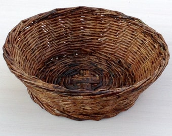 Walnut color hand made basket