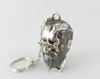 Keychain Sigmund Freud - Silver