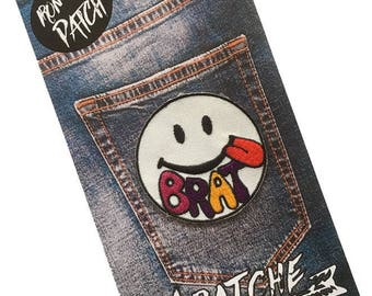 Brat Embroidered Iron On Patch