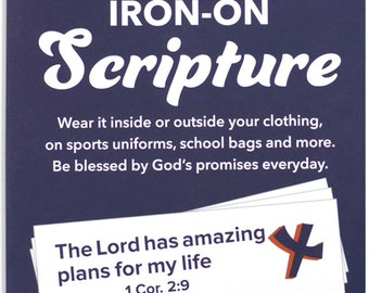 Iron On Scripture Applique 10 pack