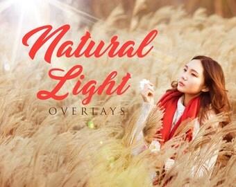 60 Natural Light Overlays, Photoshop Overlay, Sun Overlays, Light overlay, Sun Flare Overlay,  Spring Overlays, Lens Flare Overlays, Digital