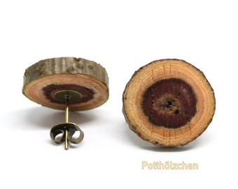 Wooden ear plugs - Tree branch slices 12mm
