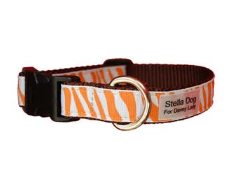 Orange Zebra Collar *FREE SHIPPING*