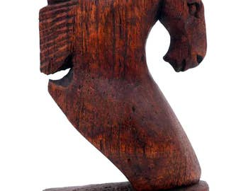 Sculpture head horse carved wooden Hand Carved Horse Head bust