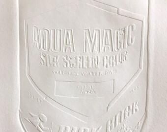 Aqua Magic Blind Embossment
