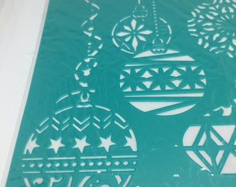 Stencils/ Christmas Stencils / Christmas Ornaments Stencils/ Self Adhesive Stencils / Card Making / Scrapbooking / Arts and Craft