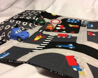Auto garage car mat play mat to go