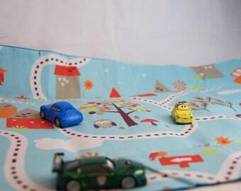 Auto garage car mat play mat of to go * XXL *.