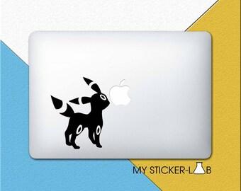 Pokemon Umbreon MacBook Decal Umbreon MacBook Sticker Umbreon Sticker Umbreon Decal Eevee Sticker Pokemon Stickers Eevee Evolution Dark m566