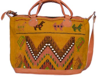 colorful XL weekender bag