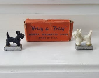 1930's Hotsy & Totsy Merry Magnetic Pups Vintage Toy
