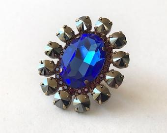 Handmade Ring Swarovski Crystals