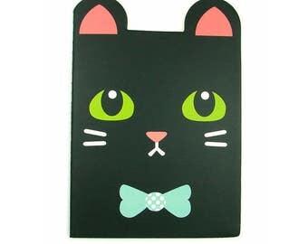 Kawaii black cat notebook