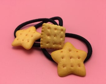 Biscuits Hair Rubber Bands, Hair Ties