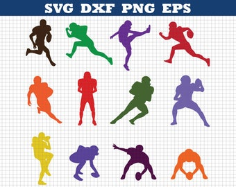 Football Players Svg,American football Svg,Silhouettes Svg,Football Silhouettes Svg,Silhouette files,Cricut files, Instant download