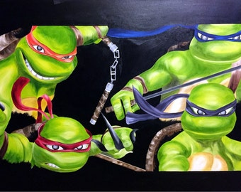 "Oil on Gallery Canvas ""TMNT"""