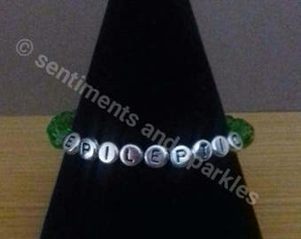 epileptic medical alert bracelet