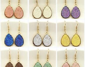 Beautiful Druzy Drop Earrings