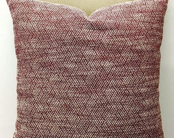 Burgundy Cotton Chenille Pillow Cover Boho Pillow Chenille Pillow Throw Pillow Decorative Pillow Cushion Burgundy Chenille Pillow Covers