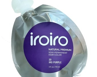 Iroiro Premium Natural Semi-Permanent Hair Color Dye Iro 20 Purple 4 oz