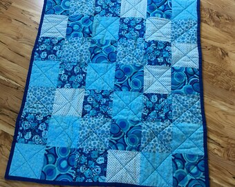 Baby Boy Quilt with Flannel backing