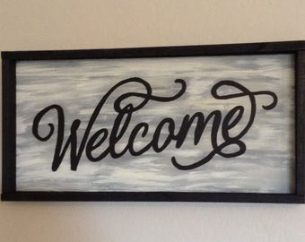 Wood Sign - Welcome - Item 1002