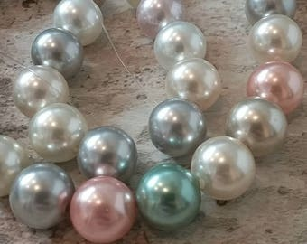 Multicolored Assorted Pastel Glass Pearls
