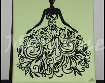 "Canvas ""pretty dress"""