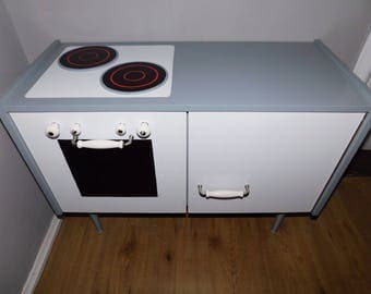 Children's kitchen with refrigerator