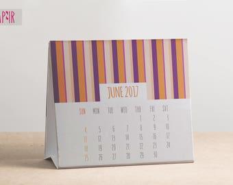 Printable Desktop Calendar June 2017