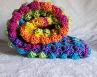 Funky Colours Crochet Baby Pram Blanket