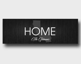 Home State Personalized Canvas Sizn