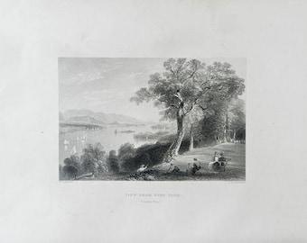 1883 Antique Print, Hyde Park