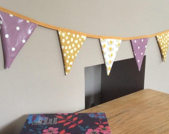 Outdoor, Double sided, Garden Bunting, Summer Yellow, ideal for a summer tea party in the garden