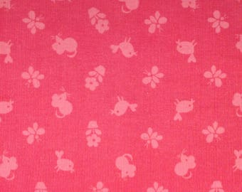 Timeless Treasures Corduroy Fabric, Flower Power Alice Kennedy CCD9474-- 1/2 yard increments