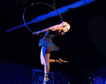 Blue Barefoot dance footwear- aerialist costume Footsies- Ruby By KimB