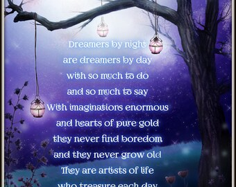 Inspirational Poster| Waldorf Art| Believe| Enchanted Forest| Magical Forest Print
