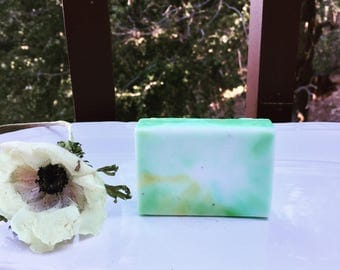 Lemon and Rosemary Essential oil soap, handsoap, body soap great gift