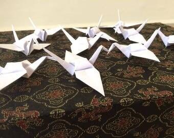 400 white origami cranes - small size ( 3,5 inches)
