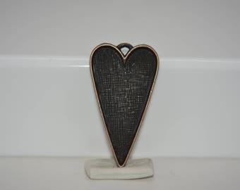 Heart Tray, Heart Bezel, Large Heart Bezel, Heart Pendant, Antique Copper Heart Bezel, Silver Heart Bezel, Antique Gold Heart Bezel
