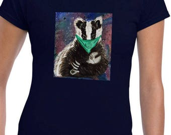 Stop the Cull, save the badgers, ladies T shirt