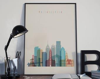 Philadelphia Skyline Etsy