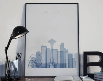 Seattle Wall Art seattle art | etsy
