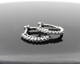 0.18ct Diamond Hoop Earrings