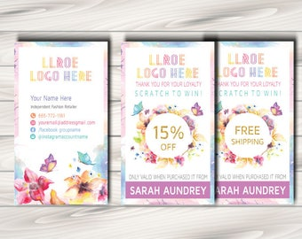 LLRoe Home Office Approved Fonts and Colors Fashion Consultant Digital Printable Scratch off Ticket Card - watercolour