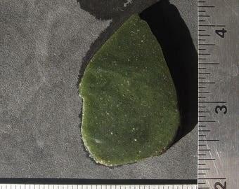 Frankfort Green Slag Glass   Lapidary Slab    T225