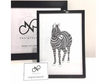 ORIGINAL ART Zebra
